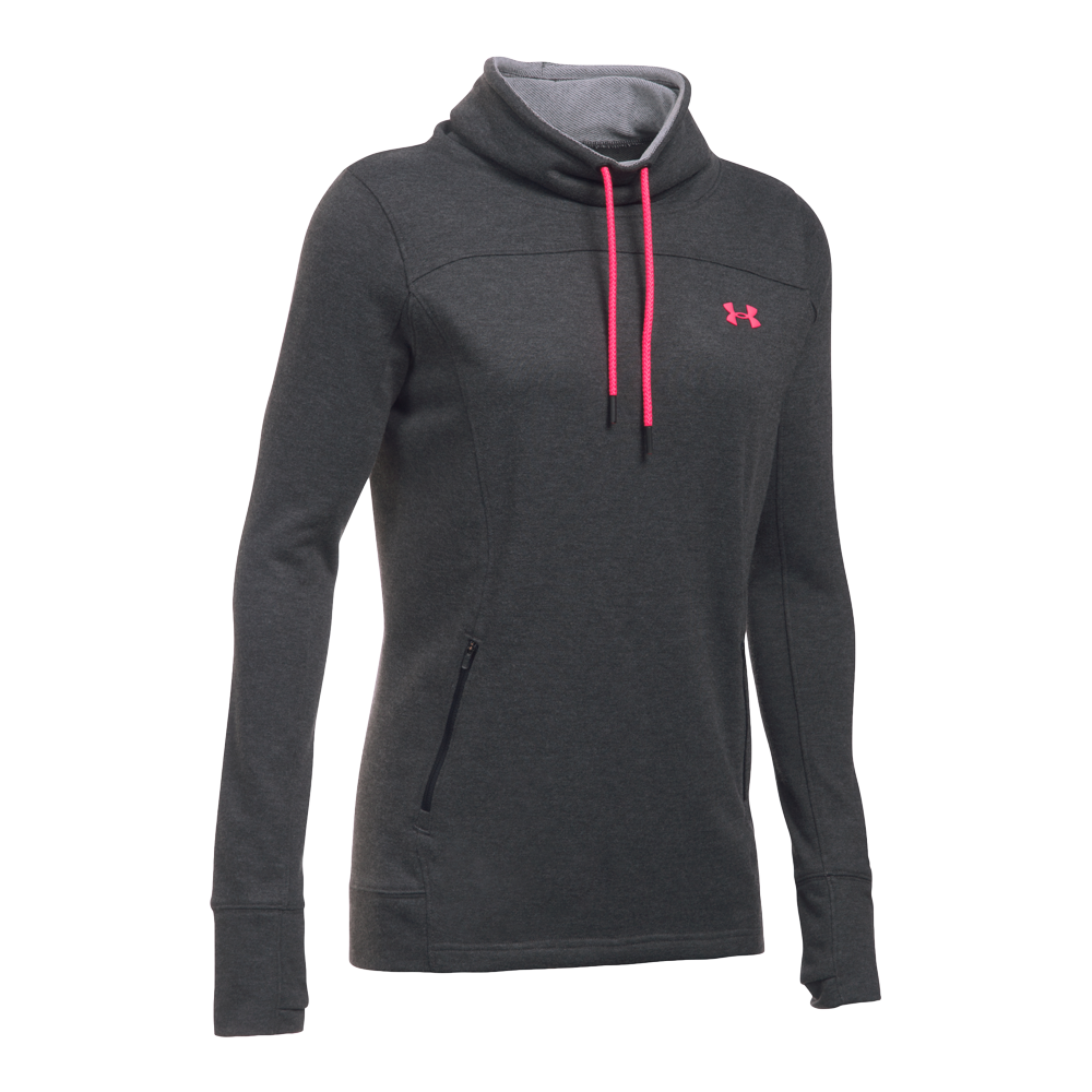 under armour w featherweight fl slouchy hood damen pullover. Black Bedroom Furniture Sets. Home Design Ideas